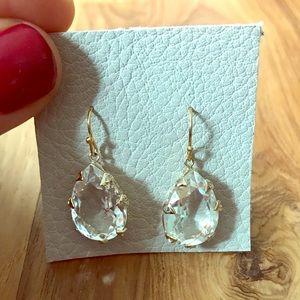 BHLDN Lennon gold drop earrings, never been worn